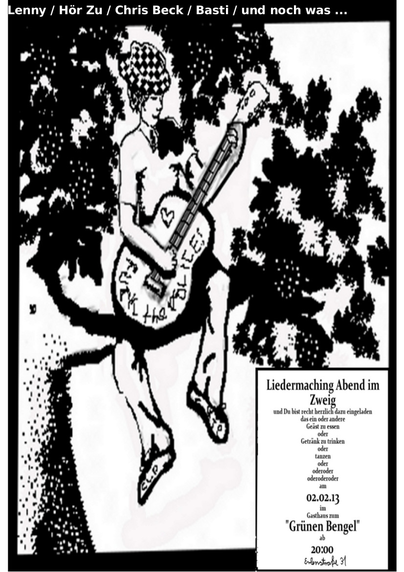 2.Februar: Liedermaching Abend