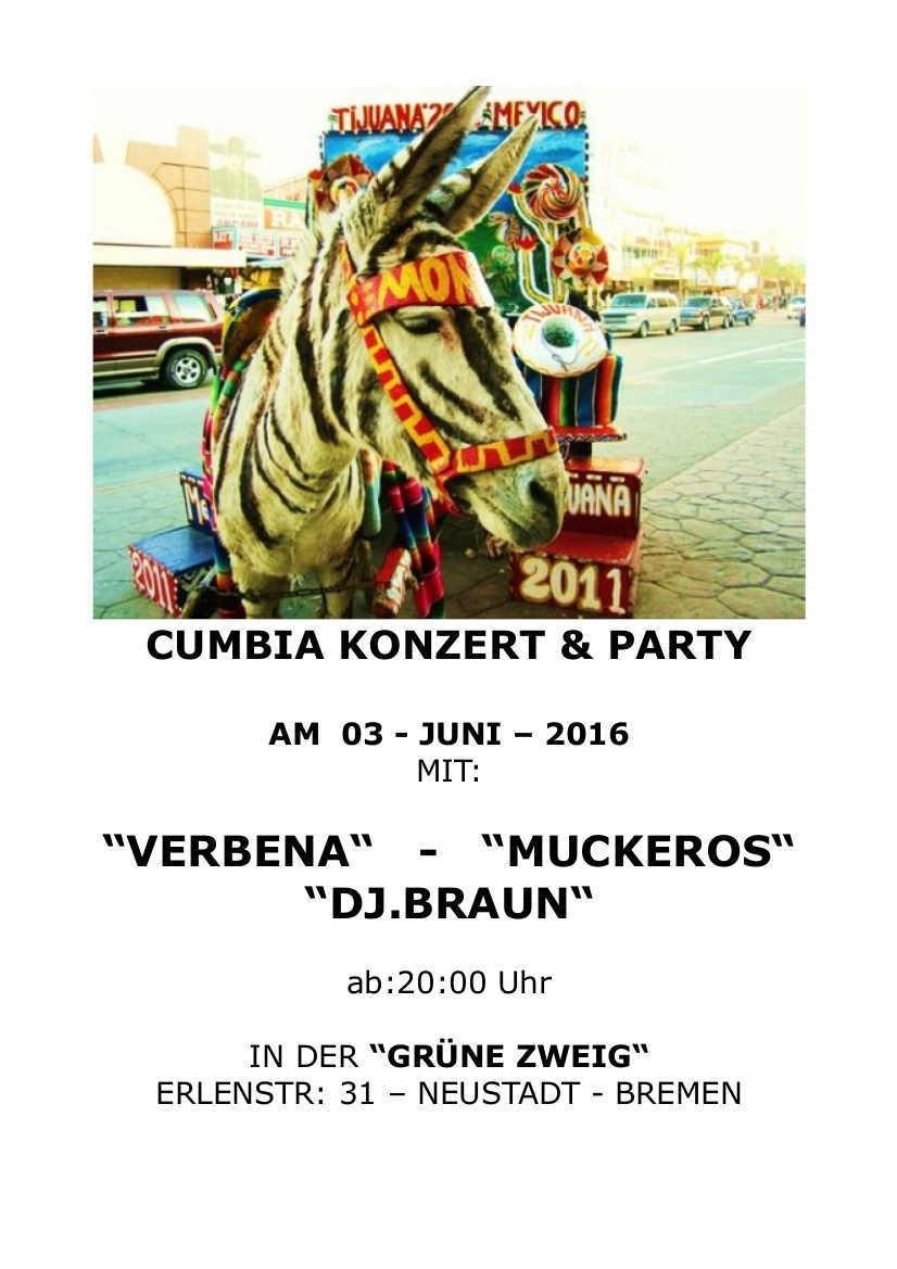 CUMBIA KONZERT & PARTY