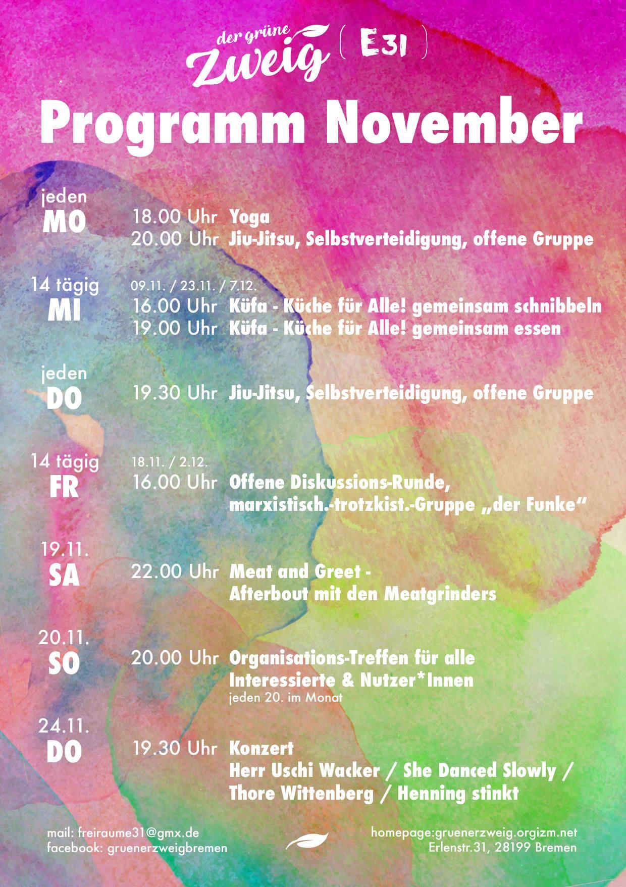 Programm November 2016