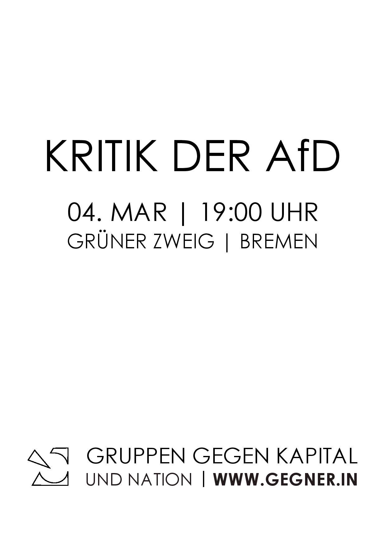 Kritik im Handgemenge 04.03.2017 19:00