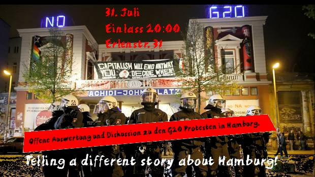 Telling a different Story about Hamburg/ 31.07.17/ 20:00/ E31