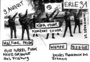 Küfa & Konzert – Malfunc Prism / Wumpe / BZZGB