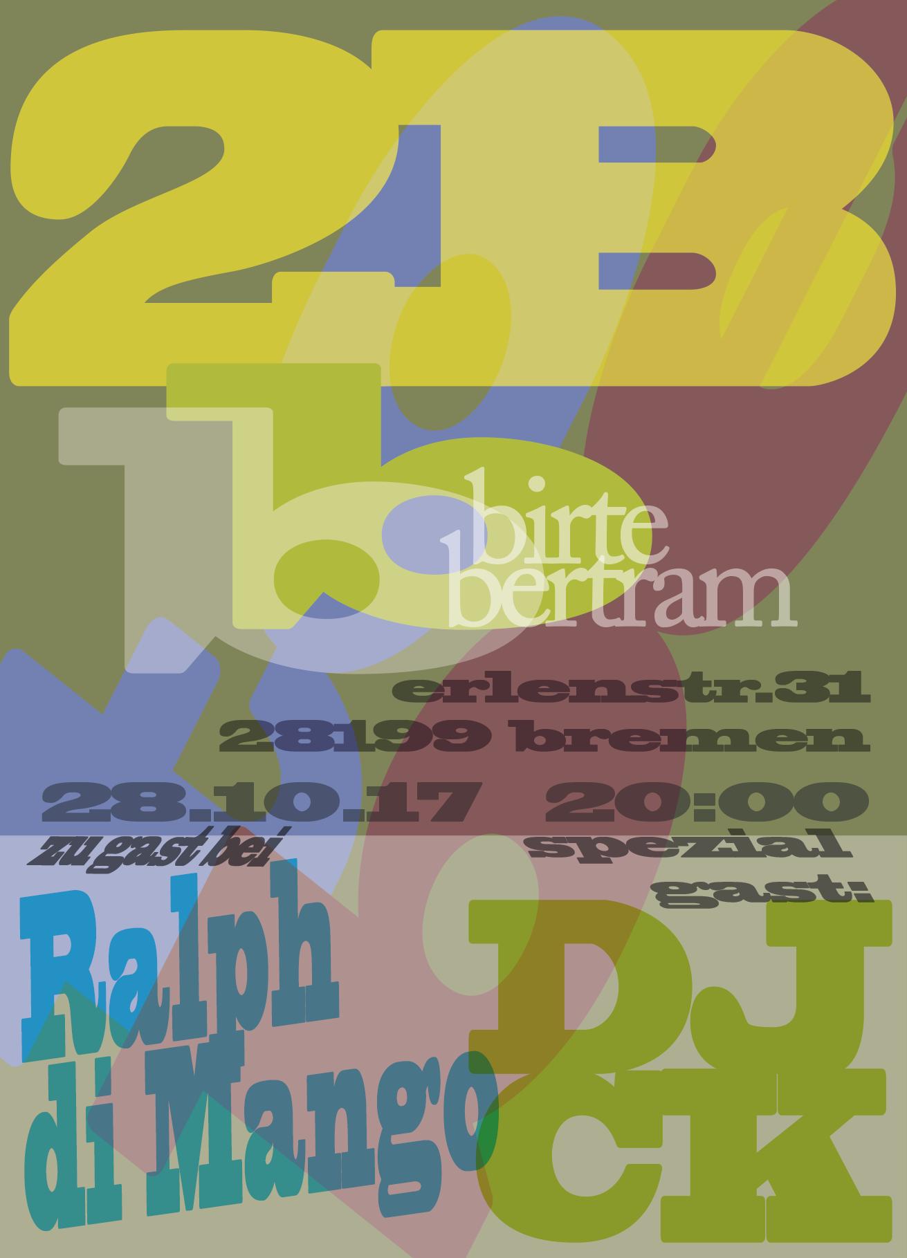 28.10.17  2B, Ralph di Mango und DJ CK – Konzert und Tanz.